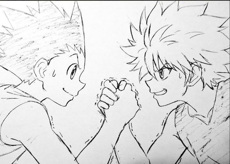Gon And Killua Gon Killua Hunterxhunter Anime Desenhos De
