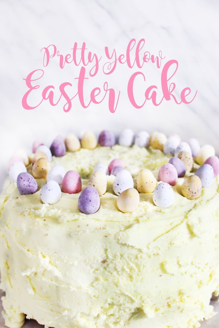 A super easy buttercream layer cake recipe for you to make this Easter, or any occasion. Taken from Tanya Burr's Tanya Bakes recipe book!