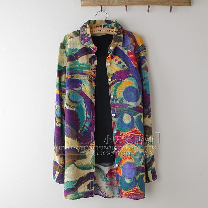 Long Color Shirt (B0073)    #caterpillar #barnard #lafond #bernardlafond #cottage glaze #groove #moda #shop #shopping #blouse #womenblouse #girlsblouse #shop