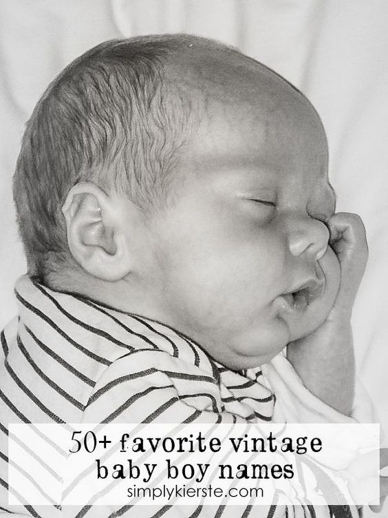 50 of the most adorable old-fashioned and vintage baby boy names! Whether you're looking for popular or unusual, this list has them all!