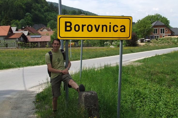 "This place name literally means ""blueberry"" - very tasty (Slovenia, 2011)"