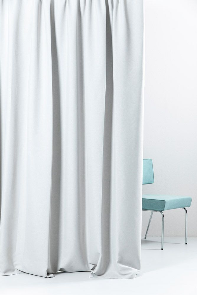 Blackout Curtain Col Silver Linen Optic Extra Wide