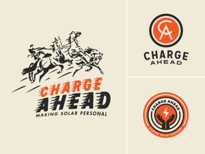 Charge Ahead Brand Identity Concepts