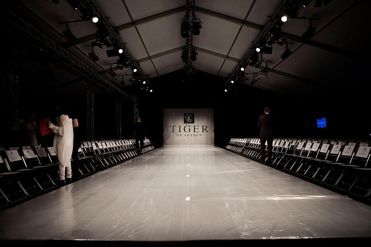 Catwalk - Before the show.   Behind the Scenes of Fashion show AW 2012