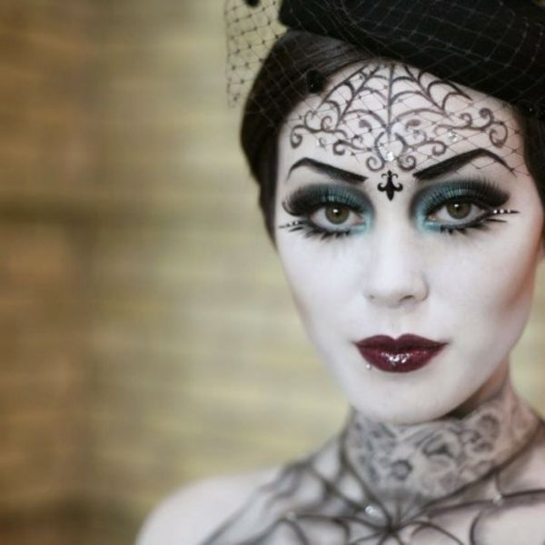 halloween-make-up-ideen-hexe-elegante-gestaltung (Halloween Art Painting)