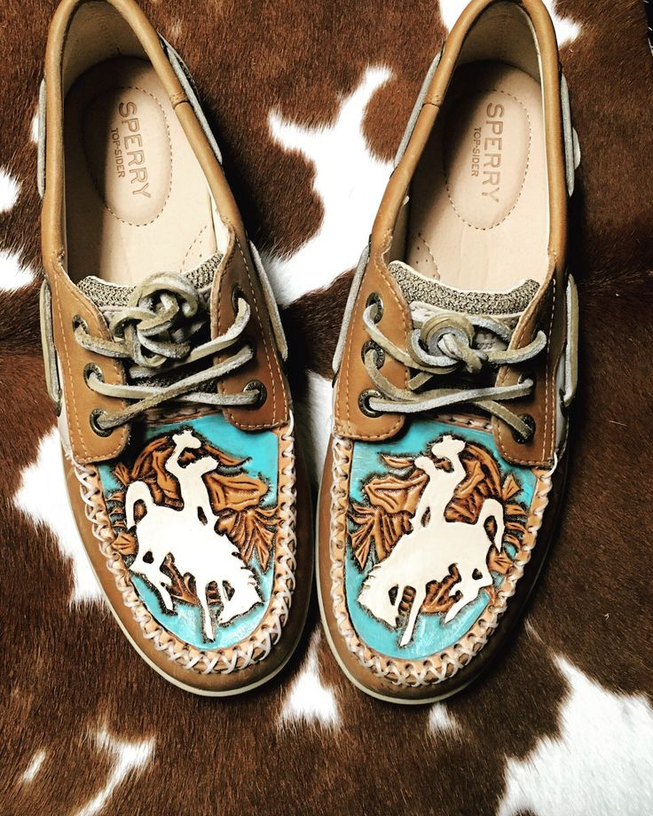 A personal favorite from my Etsy shop https://www.etsy.com/listing/494113236/womens-custom-tooled-sperrys