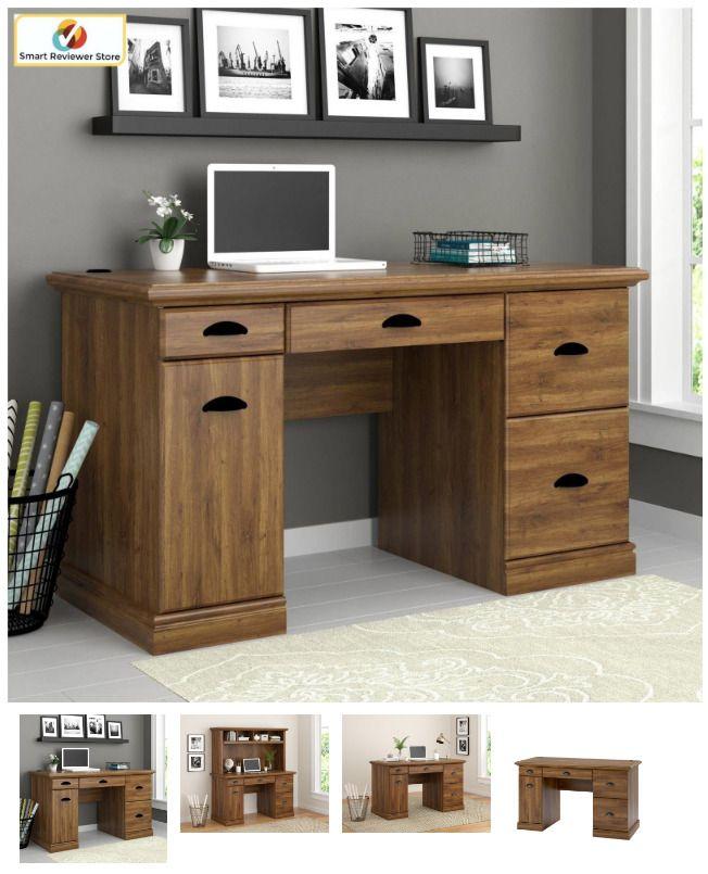 Oak Color Computer Desk Workstation Table Modern Executive Furniture Office Home Betterhomesgar Computer Desks For Home Office Desk For Sale Small Office Desk
