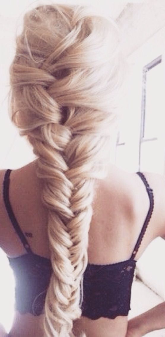 Thick braid into fishtail.