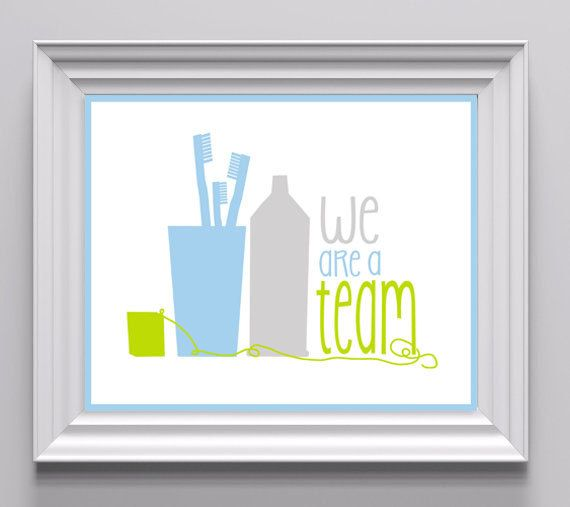 Art for the Bathroom / Dental Hygiene Art for Children