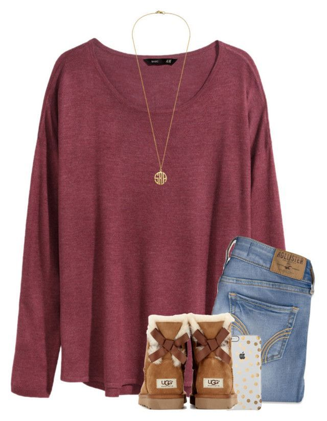 """Ugg boots make every outfit better❤️"" by savanahe on Polyvore featuring H&M, Hollister Co., UGG Australia, women's clothing, women's fashion, women, female, woman, misses and juniors"