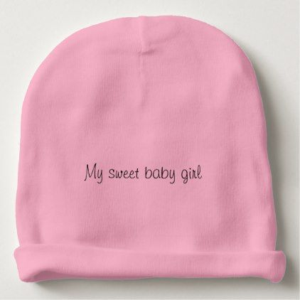 Pretty baby girl beanie - girl gifts special unique diy gift idea