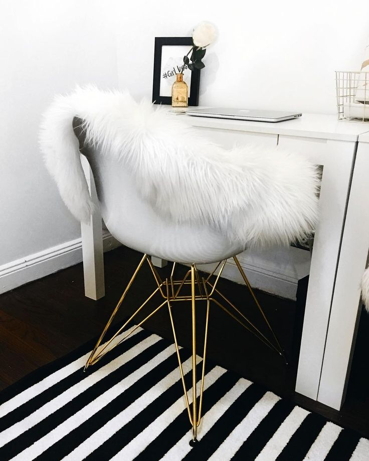 Inspired by iconic designs of the 50s and 60s  the Neo Flair accent chair  will   White Desk BedroomGold. Best 25  Black white gold ideas on Pinterest   Black white and