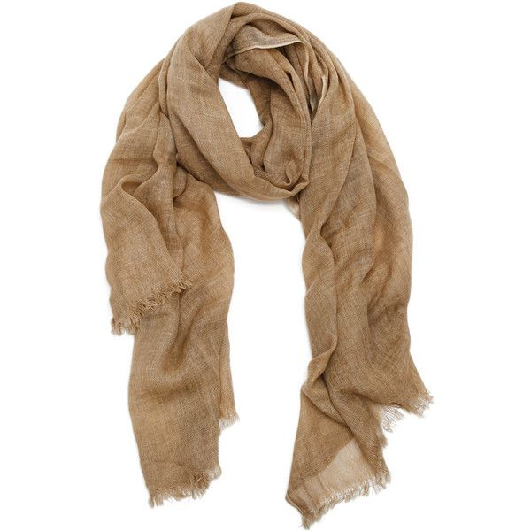 Pom Pom at Home Vineyard Camel Scarf (1.915 RUB) ❤ liked on Polyvore featuring accessories, scarves, lightweight shawl, lightweight scarves and pom pom at home