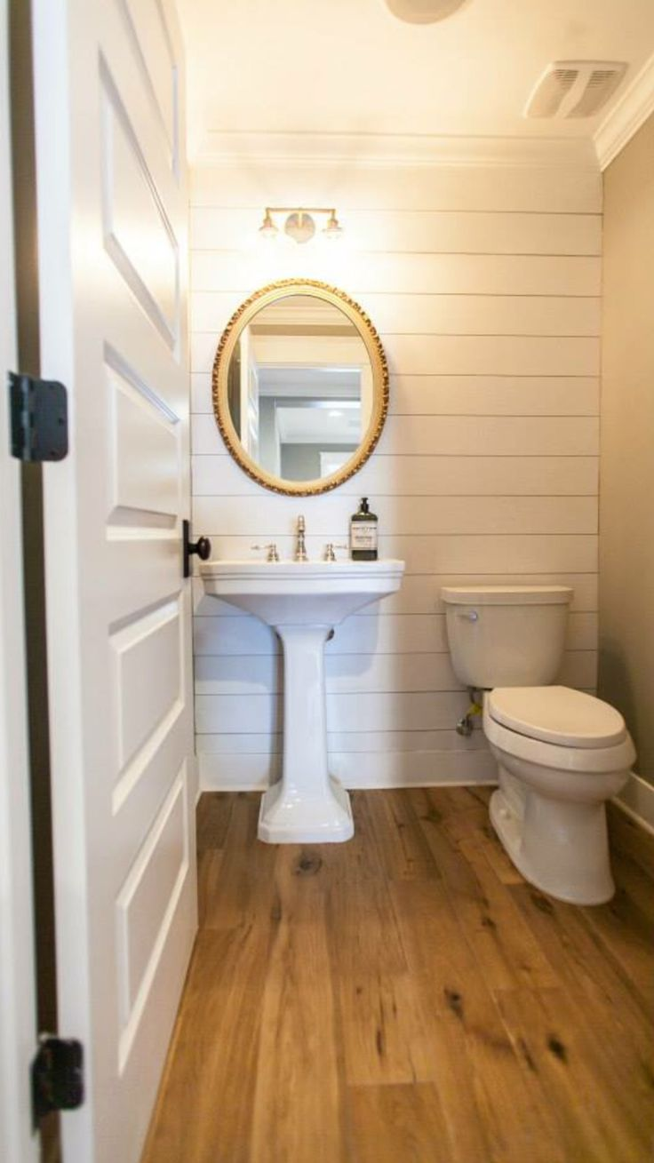 Shiplap Powder Room Bath In 2020 Tiny Powder Rooms