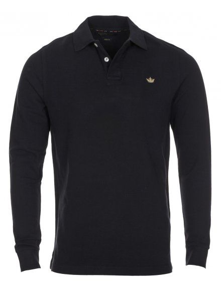 Twisted Soul Mens Black Long Sleeve Dry Polo Shirt, £16.99
