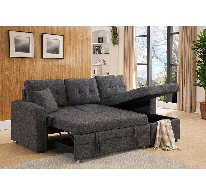 Inessa 89 Reversible Sleeper Sectional Sleeper Sectional Sectional Sofa Couch Sectional Sofa