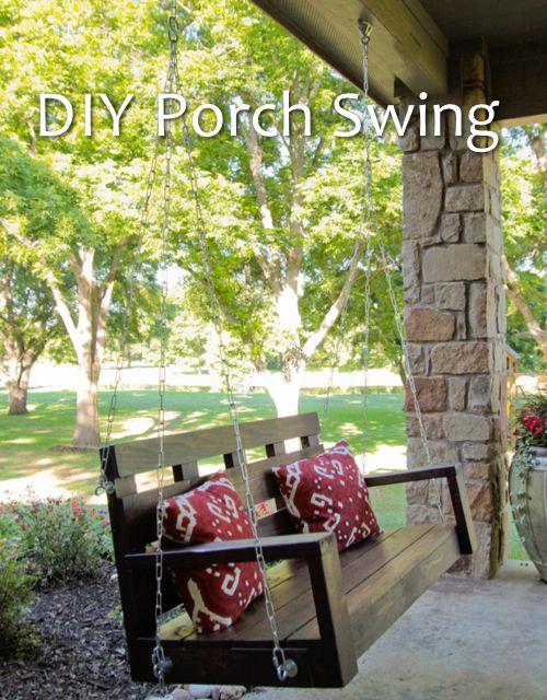 DIY Porch Swing...http://homestead-and-survival.com/diy-porch-swing/