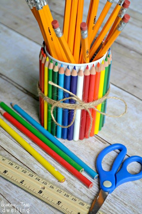 DIY Teacher Gift: {Colored} Pencil Holder made from a tin ...