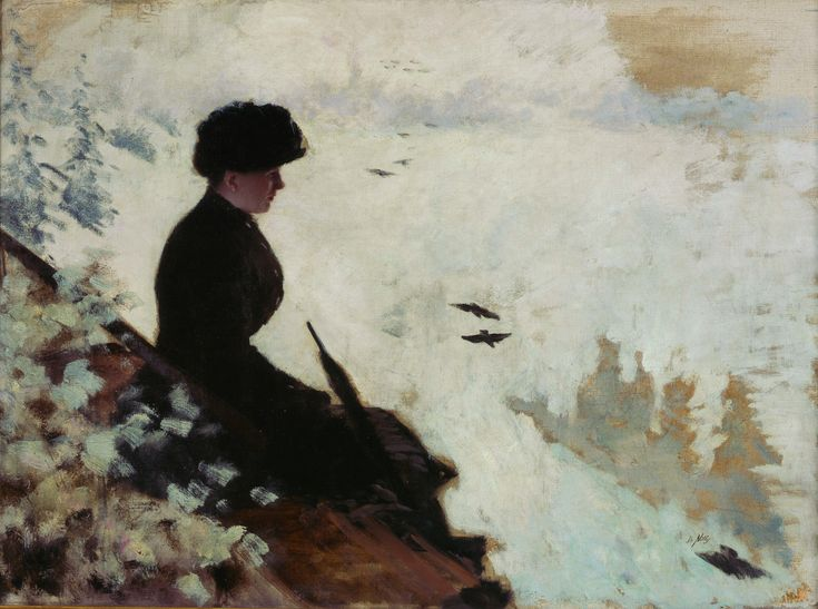 15. Giuseppe de Nittis (1846-1884)  Snow Effects, 1880  Oil on canvas - 53 X 72 cm  Barletta, Pinacoteca Giuseppe De Nittis  Photo : All rights reserved