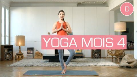Yoga prénatal en vidéo – Pour ce 2eme trimestre de grossesse, voici une séance de yoga dynamique adaptée au 4 ème mois de grossesse.