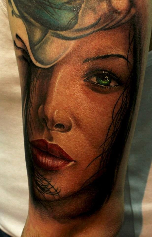 38 best images about realistic cool tattoos on pinterest for Girl tattoo artist