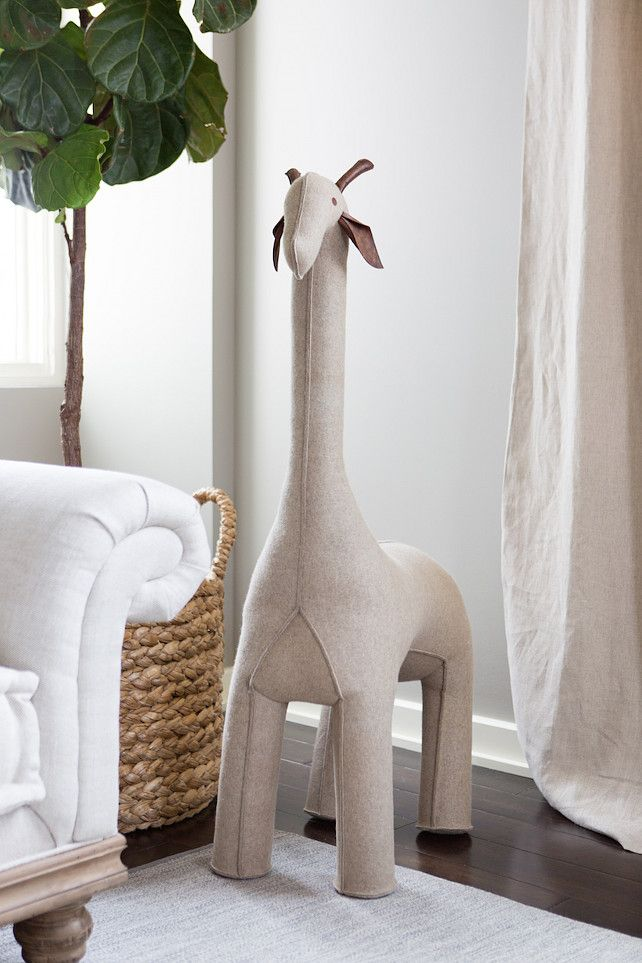 Nursery Giraffe. Nursery giraffe from Restoration Hardware. Camila Styles Nursery with giraffe.
