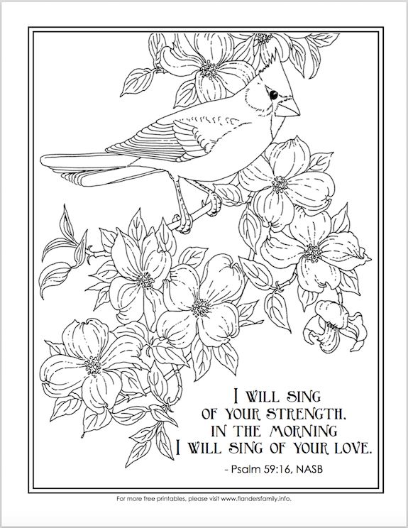 free printable scripture based adultcoloring pages i will sing of your love