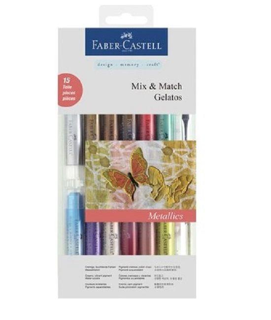 Faber Castell Gelatos - Pigment Sticks - Metallic Kit 15 st. €27,95