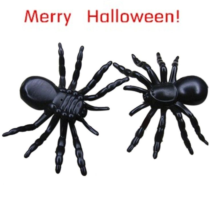 Best Seller Free Shipping Halloween surprising Plastic Realistic Black Spider Joking Toys for kids or decoration Aug3 wholesale