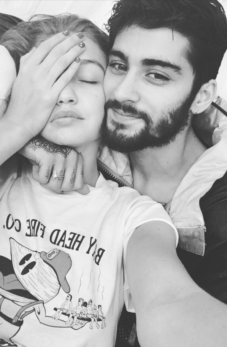 zayn and Gigi he's shaved since then ha ha