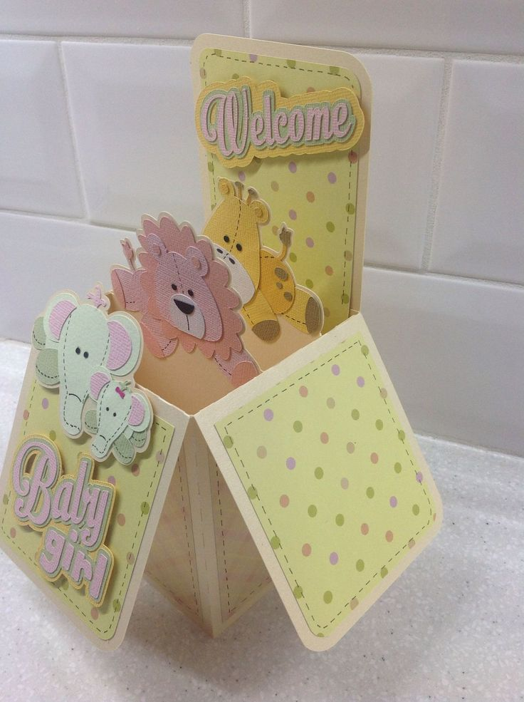Card in a box for baby