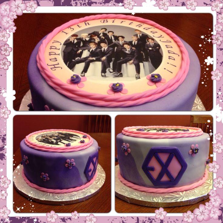 Exo Cake Cakes Bts Cake Exo Birthdays Cake