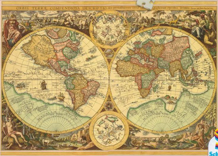 Mapa histórico del mundo   J. B. Vrient