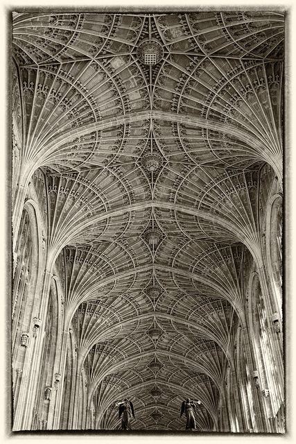 King's College Chapel in Cambridge England, built in 1512. I like all the details we can see on this ceiling