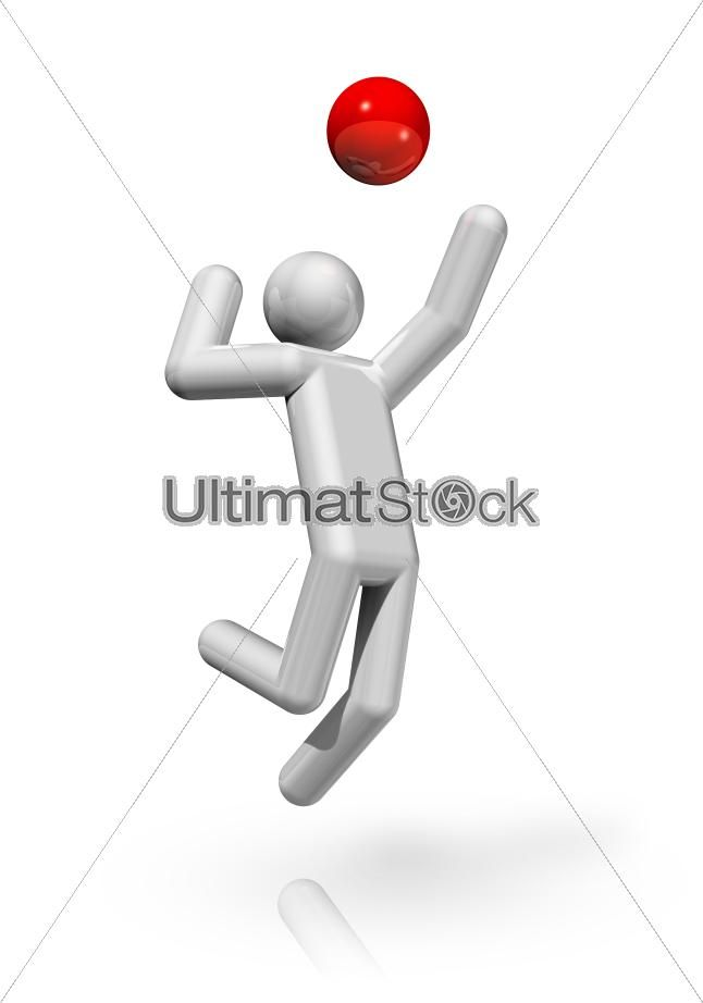 Volleyball 3D symbol  #ultimatstock #stockvector #stockgraphics #stockimages #graphicdesign #designers #background #illustration