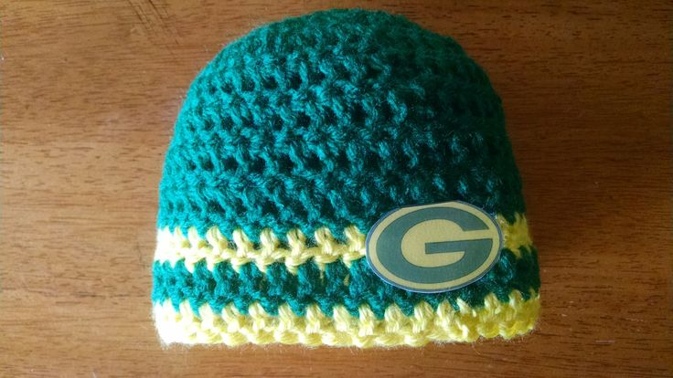 Handmade Crocheted Baby's Green Bay Packers Hat by BARTYyarn on Etsy