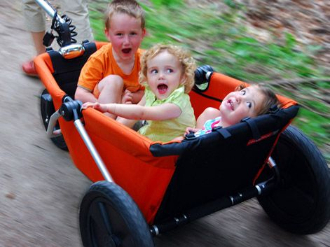 Coocarooc Breeze foldable kids wagon  so cool! I wonder if I can modify something like this for utility purposes...