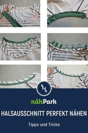 A serged neckline makes the self-stitched dress piece perfect.   – Nähen • Tipps und Tricks