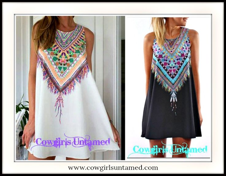 WILDFLOWER DRESS Feather Image Neckline on A-Line Black or White Sleeveless Mini Dress/Tunic Top  #feather #print #necklace #dress #aline #lightweight #sleeveless #minidress #cowgirl #western #bohemian #boho #gypsy #summer #casual #womens #clothing #style #fashion #pink #turquoise #black #white #purple #brridesmaid #wholesale #coral #onlineshopping #boutique
