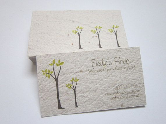 159 best handmade paper greeting cards images on pinterest custom business cards handmade paper business cards custom printed cards recycled cards eco friendly business cards by elodiesshop on etsy reheart Choice Image
