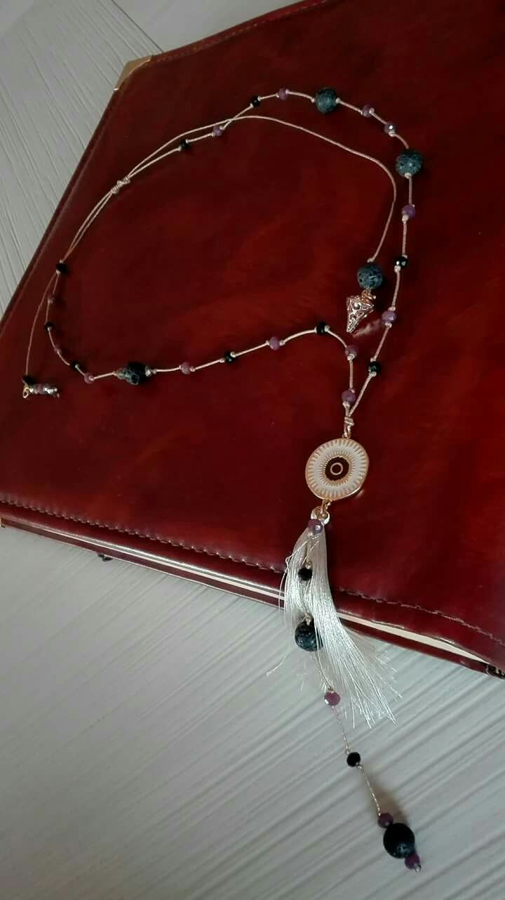 "Necklace semiprecious stones ""Niky's handmade creations"""