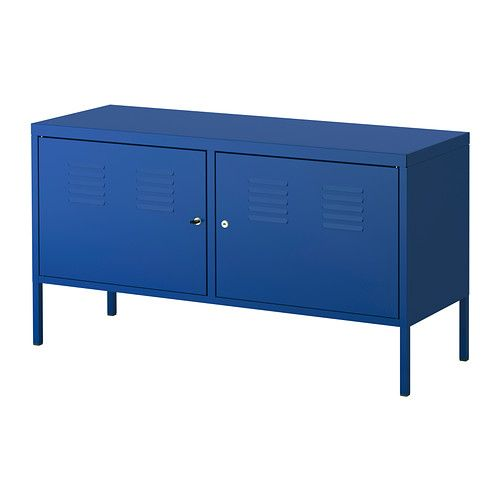 IKEA Fan Favorite: IKEA PS cabinet. A pop of color, lockable doors and a cord outlet make this product a favorite among IKEA fans.