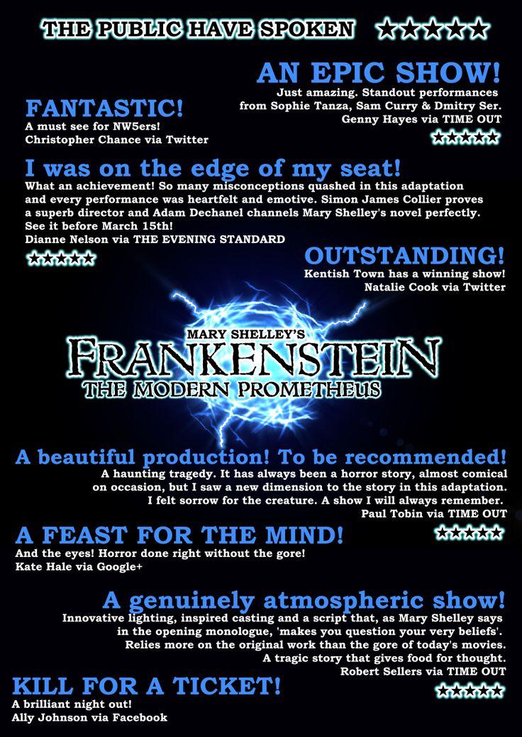 Public Quotes for Frankenstein, London, 2014
