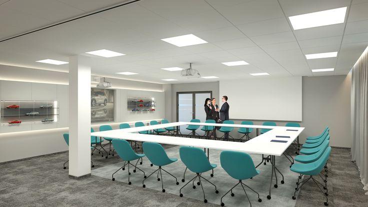 Projekt wnętrza biurowego - sala konferencyjna