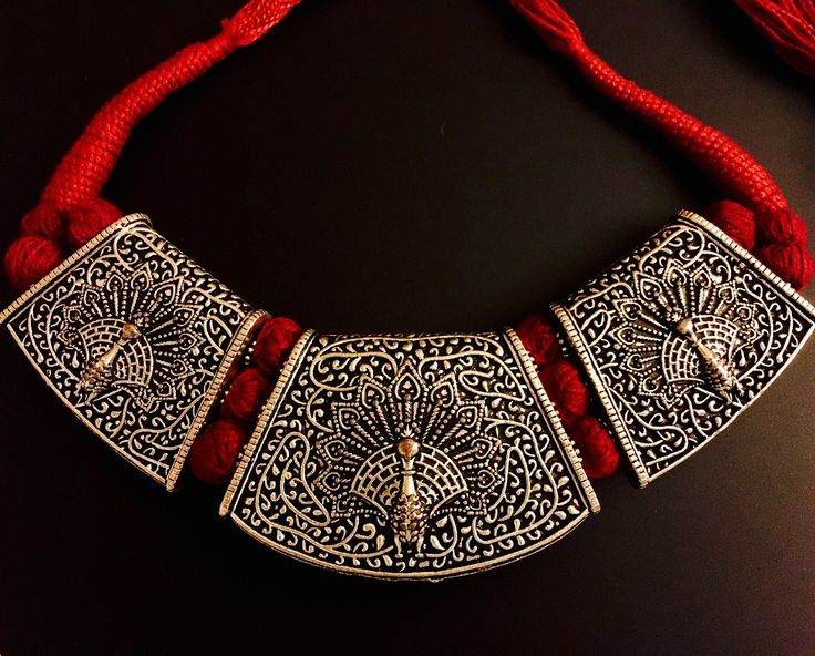 peacock pendant german silver neckpiece
