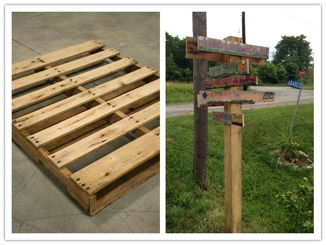 How to make sign post with used pallet step by step diy for Diy pallet projects with instructions
