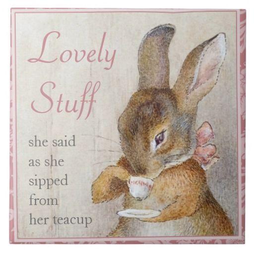 beatrix potter | Beatrix Potter Rabbit Custom Art Tile Tea Trivet