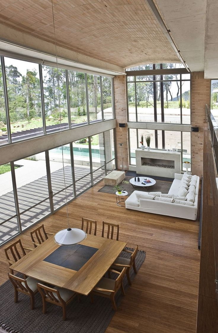Just love the high ceilings and windows flooding in the light to the timber floor.