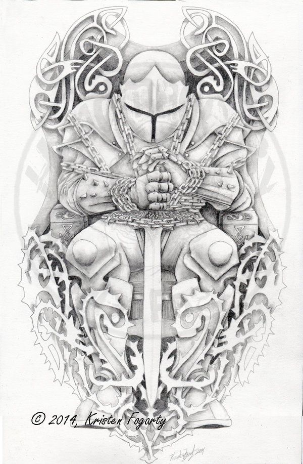 Kinda cool....Bound Knight Tattoo - for Knoxkrusher by KV-Arts on DeviantArt