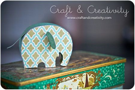 Paper Elephant - Using your own craft paper. Free PDF Template.